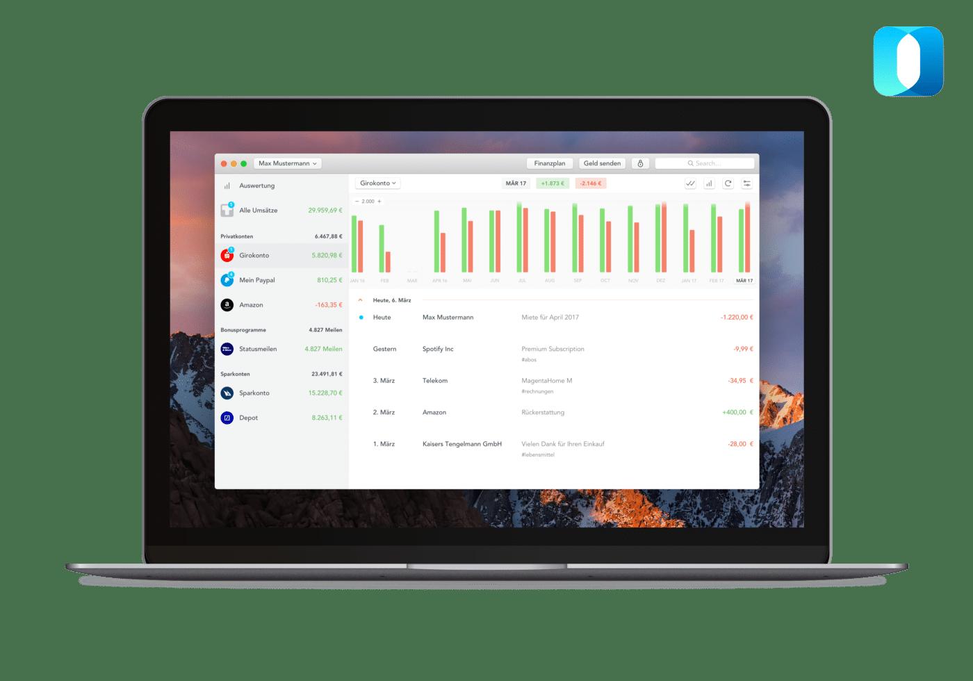 Deine Desktop Banking App Für Mac Outbank