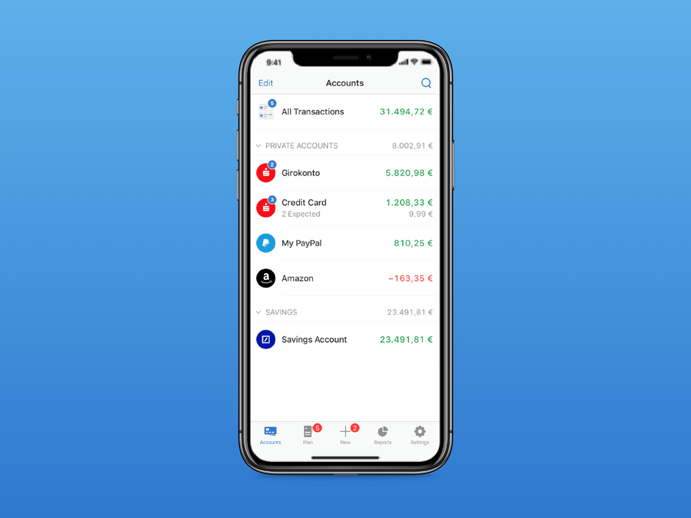 Outbank 2.0 Redesign