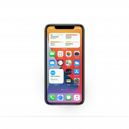 iOS 14 Widgets in Outbank: Homescreen