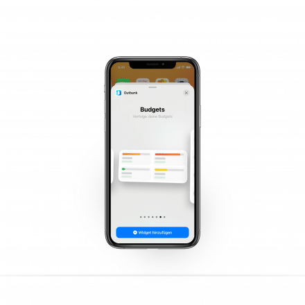 iOS 14 Widgets in Outbank: Budgets