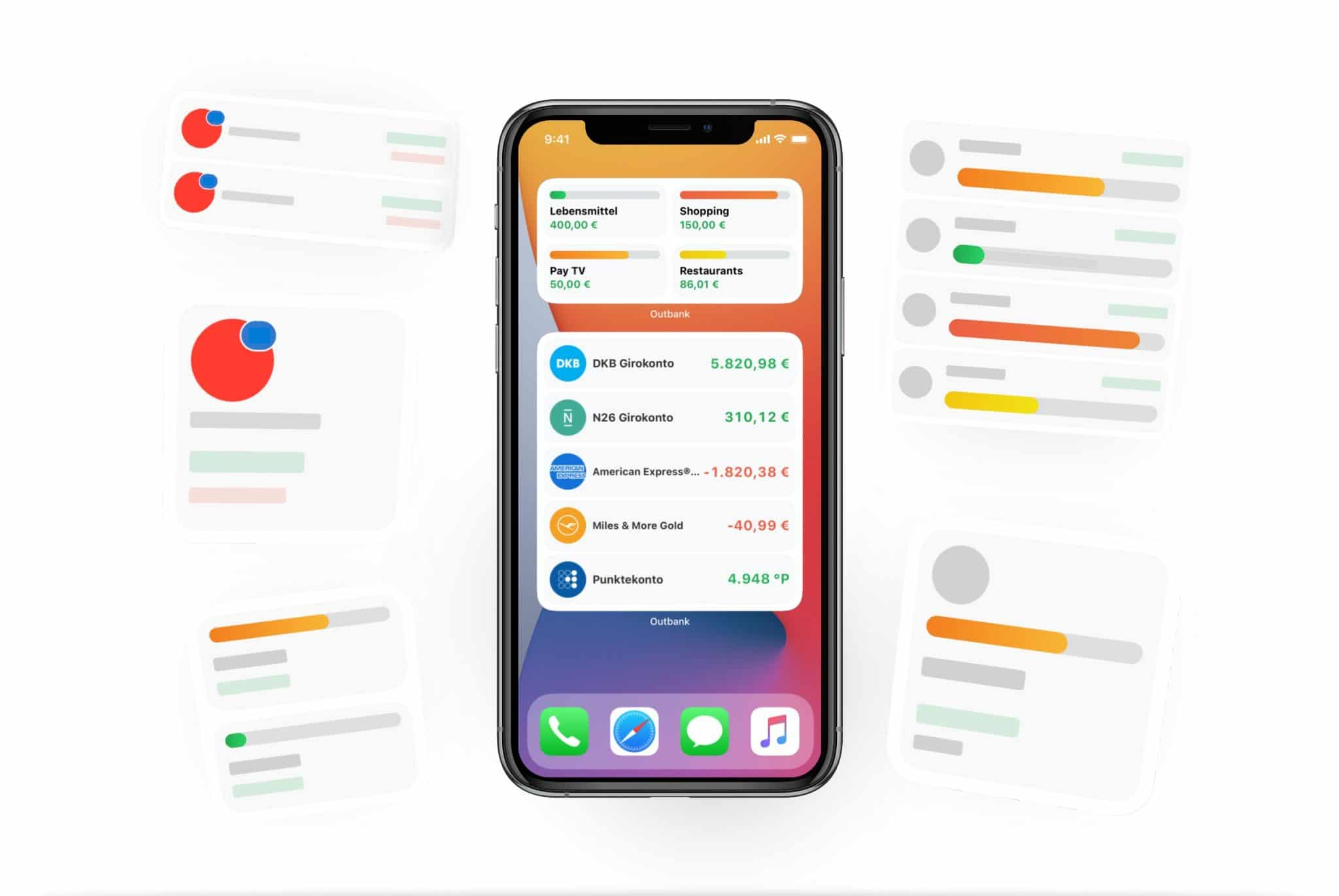 iOS 14 Widgets Outbank Salden Budgets